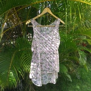 Floral And Flowy Sheer Tank